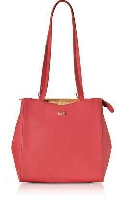 Alviero Martini Mexico City Red Saffiano Leather Convertible Backpack