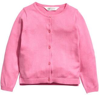 H&M Cotton Cardigan - Pink
