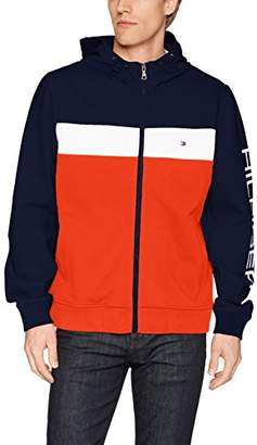 Tommy Hilfiger Men's Retro Colorblocked Hooded Track Jacket