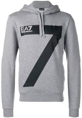 Emporio Armani Ea7 logo print hoodie
