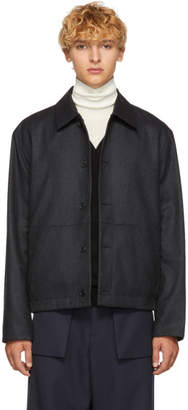 Kenzo Reversible Grey Wool Jacket