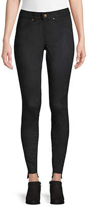 Hue High-Low Textured Leggings