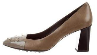 Tod's Embellished Round-Toe Pumps