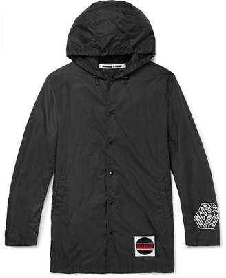 McQ Appliquéd Shell Hooded Jacket