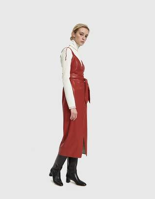 Nanushka Nahar Red Vegan Leather Dress