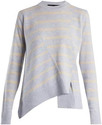 Proenza Schouler Panelled crew-neck striped wool-blend sweater