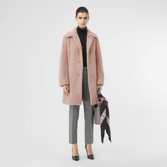 Burberry Faux Fur Single-breasted Coat