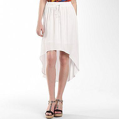 Allen B. High-Low Flare Skirt