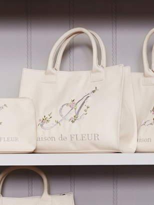 Maison de Fleur (メゾン ド フルール) - Maison de FLEUR フラワーイニシャル刺繍トートバッグ メゾン ド フルール バッグ