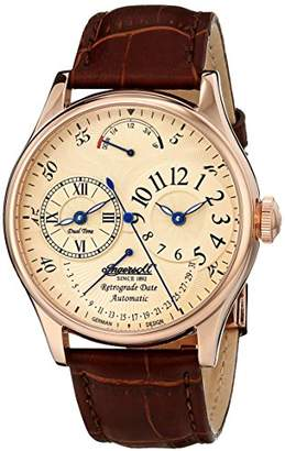 Ingersoll Men's IN3608RCR Ragtime Analog Display Automatic Self Wind Brown Watch