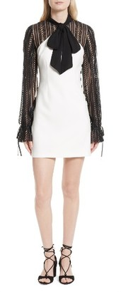 Women's Self-Portrait Lace Sleeve Minidress $475 thestylecure.com