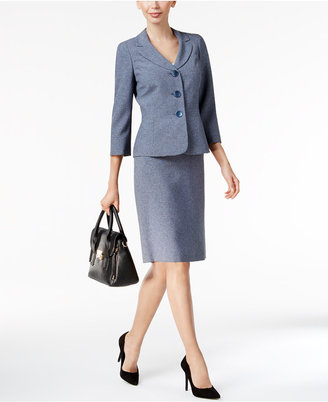 Le Suit Mélange Skirt Suit $200 thestylecure.com