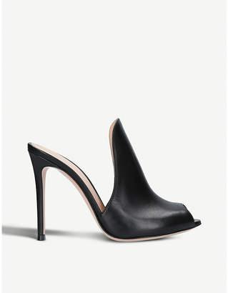 Gianvito Rossi Aramis 105 leather heeled mules