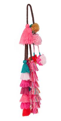 MISA Sayeh Pom Pom Bag Charm $35 thestylecure.com