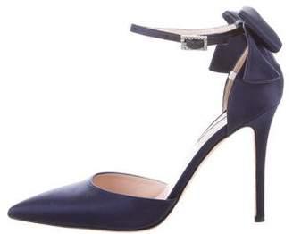 Sarah Jessica Parker Satin Ankle-Strap Pumps