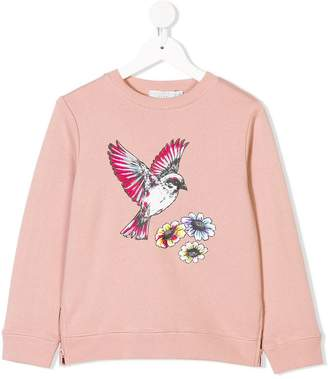 Stella McCartney TEEN bird print sweatshirt