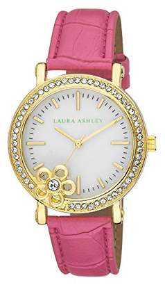Laura Ashley Women's LA31013PK Analog Display Japanese Quartz Pink Watch $42.43 thestylecure.com