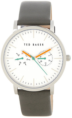 Ted Baker London Men&s Round Multifunction Leather Strap Watch $155 thestylecure.com