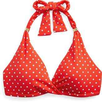 Ralph Lauren Pin Dot Halter Bikini Top