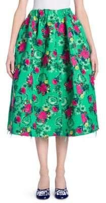 Marni Full Floral Jacquard Skirt