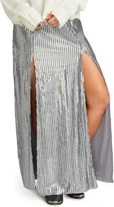 Show Me Your Mumu Sequin Double Slit Maxi Skirt