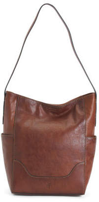 Leather Hobo With Side Pockets