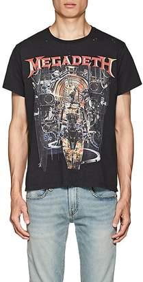 R 13 Men's Megadeth Distressed Cotton T-Shirt