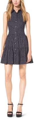 Michael Kors Sleeveless Cotton-Poplin Shirtdress