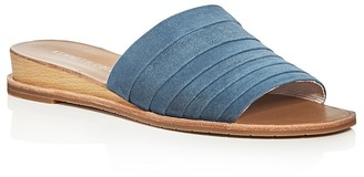 Kenneth Cole Janie Suede Demi Wedge Slide Sandals $110 thestylecure.com