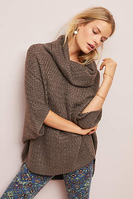Moth Textured Poncho Pullover