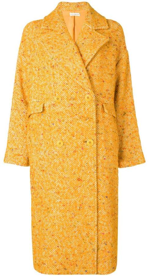 speckled twill coat