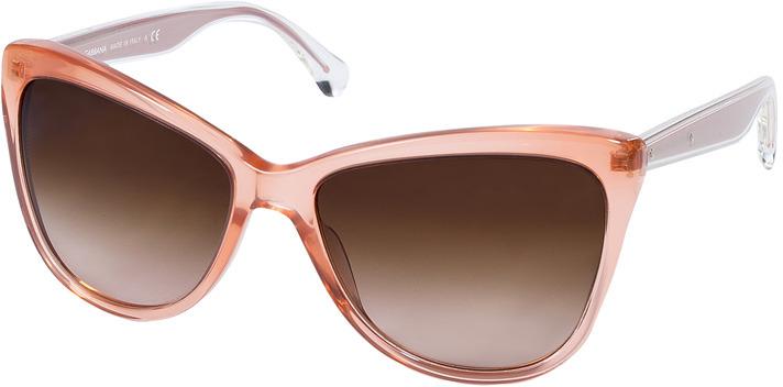 Dolce & Gabbana Transparent Coral Acetate Cat-Eye Gradient Sunglasses