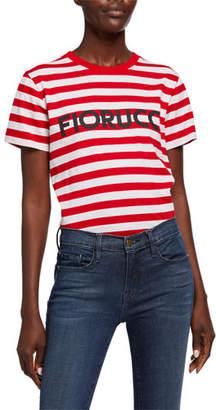 Fiorucci Classic Striped Logo T-Shirt