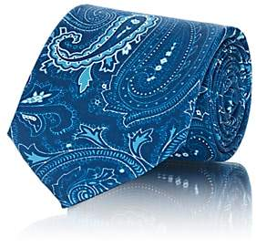 Fairfax Men's Paisley Silk Necktie-Blue