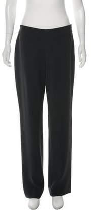 Giorgio Armani Mid-Rise Wide-Leg Pants Grey Mid-Rise Wide-Leg Pants