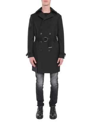 Saint Laurent Double Breasted Coat With Belt