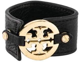 Tory Burch Leather Logo Wrap Bracelet