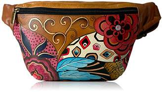 Anuschka Anna by Women's Genuine Leather Fanny Pack | Hand Painted Original Artwork | Tribal Potpourri