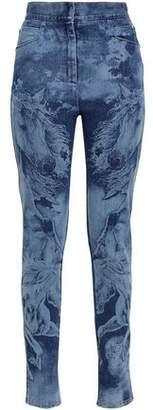Balmain Printed High-rise Skinny Jeans
