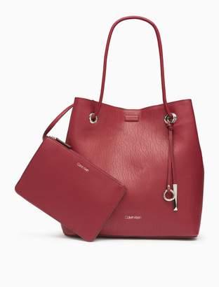 ac260ccb46 ... Calvin Klein novelty cinch tote bag + zip pouch