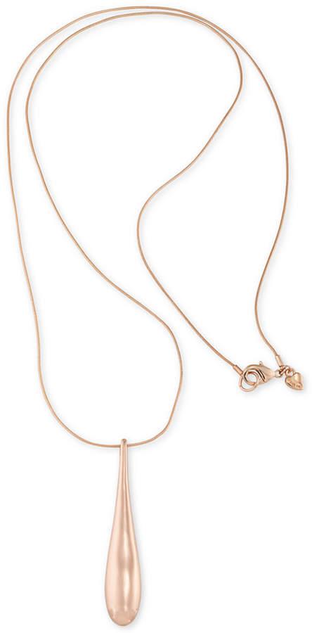 CaroleeCarolee Rose Gold-Tone Teardrop Long Pendant Necklace