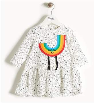 Bonnie Mob Rainbow Applique Printed Dress (Baby Girls)