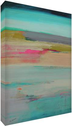 Camilla And Marc Feel Good Art Original and Abstract Gallery Wrapped Box Canvas With Solid Front Panel (30 x 20 x 4 cm Small Tranquility)