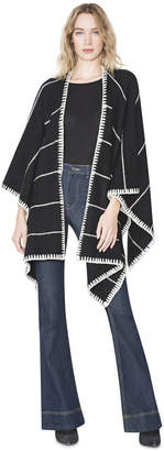 Alice + Olivia Kamala Oversized Draped Poncho