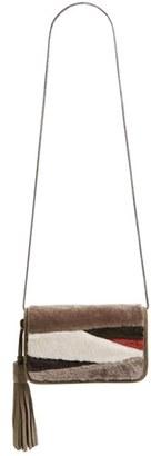 Allsaints Bando Genuine Shearling Crossbody Bag - Beige $248 thestylecure.com