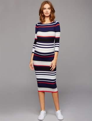 e536864ad7 A Pea in the Pod Striped Midi Maternity Dress
