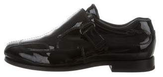 Prada Patent Leather Monk Strap Oxfords