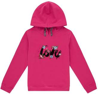 Ermanno Scervino Floral Love Embroidered Hoodie