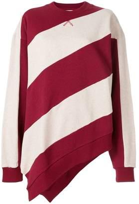 Marques Almeida Marques'almeida striped asymmetric sweater