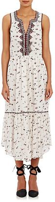 Ulla Johnson Women's Embroidered Chiffon Leena Midi-Dress $600 thestylecure.com